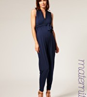 French Connection maternity jersey V-neck jumpsuit £87
