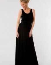 Crave Maternity - Black Scoop Neck Maxi Dress