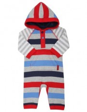 M & Co - Stripe hooded romper