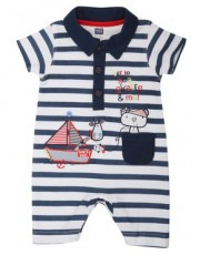 M&Co - Teddy pirate polo romper suit