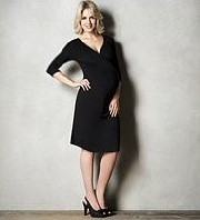M&S - Maternity 3-4 Sleeve Mock Wrap Dress