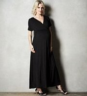 M&S - Maternity Crossover V-Neck Maxi Jersey Dress
