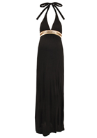 Mama La Mode - Isis Beaded Halter Maxi Dress black
