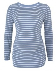 Mothercare - M2b Long Sleeve Stripe Scoop Neck Top