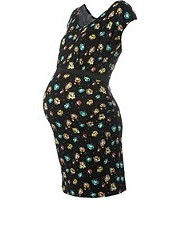 New Look - Maternity Floral Bodycon Maternity Dress
