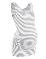 Red Herring - Maternity white striped vest top