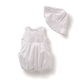 The White Company - Embroidered Bubble Hem Shortie & Hat