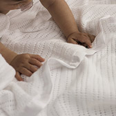 The White Company - Satin-Edged Cellular Cot Blanket