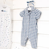The White Company - Seersucker Check Sleepsuit