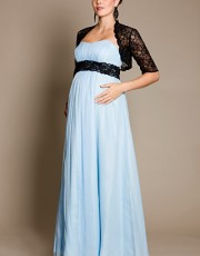 Tiffany Rose - BlueBell Gown with Black Lace Sash