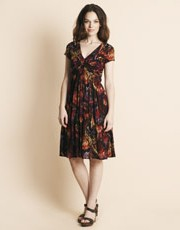 Jigsaw - Fire Feather Print Lyocell Dress
