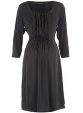 Mamalicious - Black pleat front dress