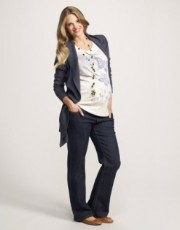 Mothercare - Maternity Denim Marl Waterfall Cardigan