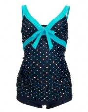 Mothercare - Maternity Navy and Turquoise Spot Tankini swimwear