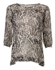 Mothercare - Maternity Three-Quarter Sleeve Animal Print Blouse