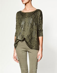 Zara snakeskin printed sweater £45.99