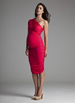 790ab17ff44aa Isabella Oliver maternity ruched one shoulder dress £115