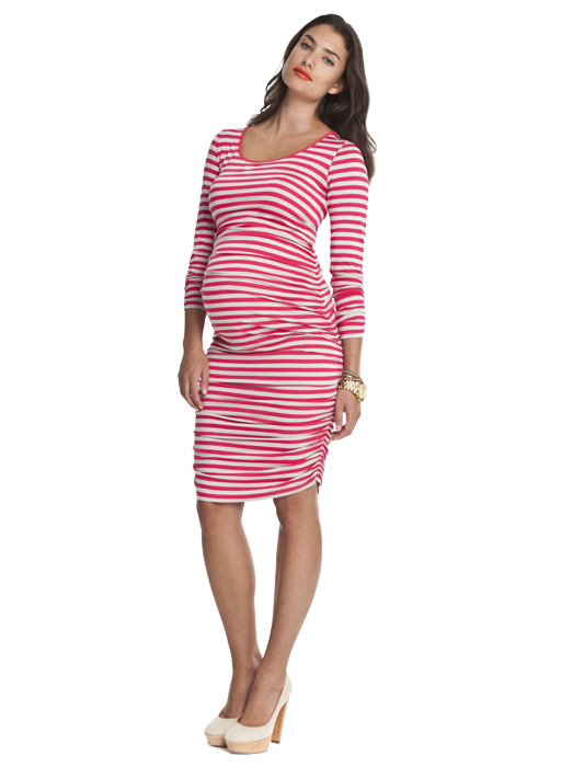 Isabella Oliver maternity striped ruched dress £99