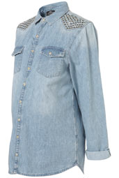 Topshop Maternity studded denim shirt £38