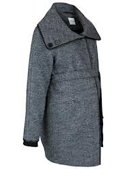 Mamalicious-Grey-PU-trim-rosa-wool-coat1