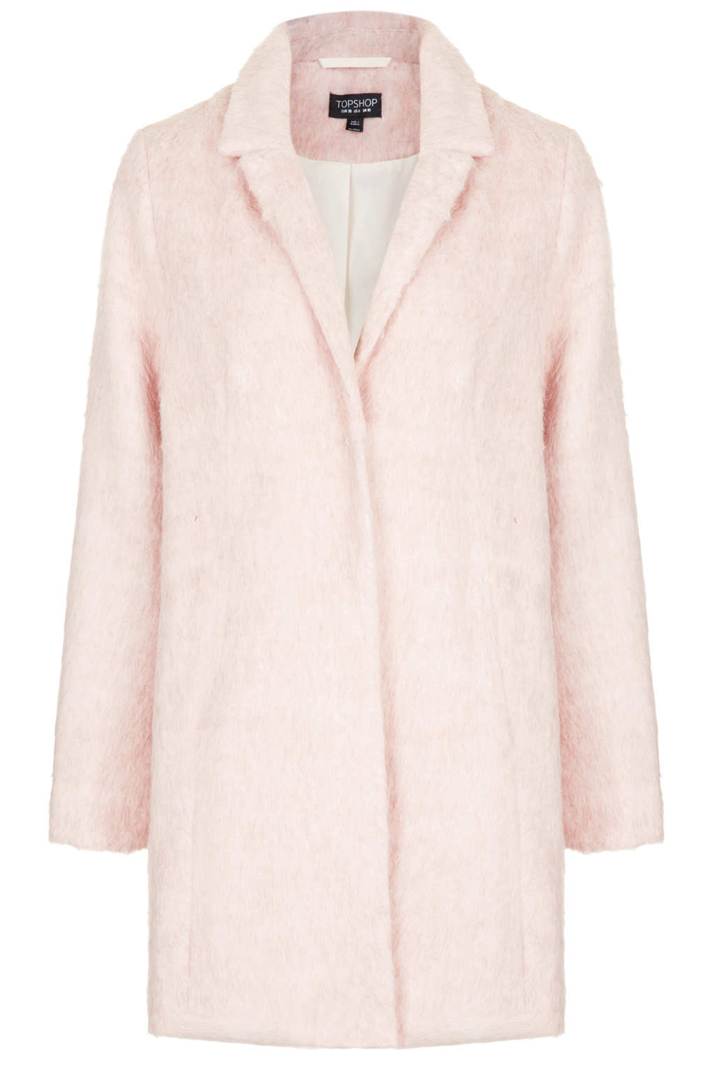 Topshop fluffy boyfriend coat, £89