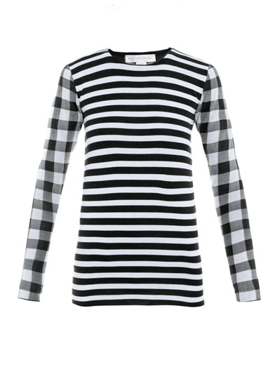 Stella MCCartney check and stripe sweater £225 was £510